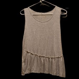 Caution To The Wind Gray Woman's Sleeveless Shirt